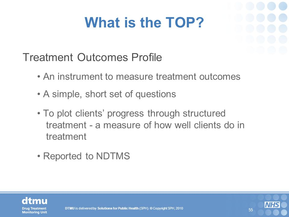 What is the TOP Treatment Outcomes Profile