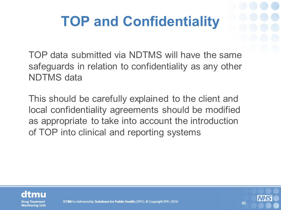 TOP and Confidentiality