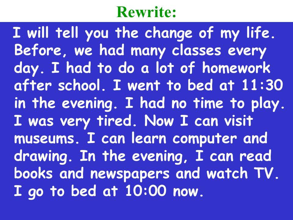 Rewrite: