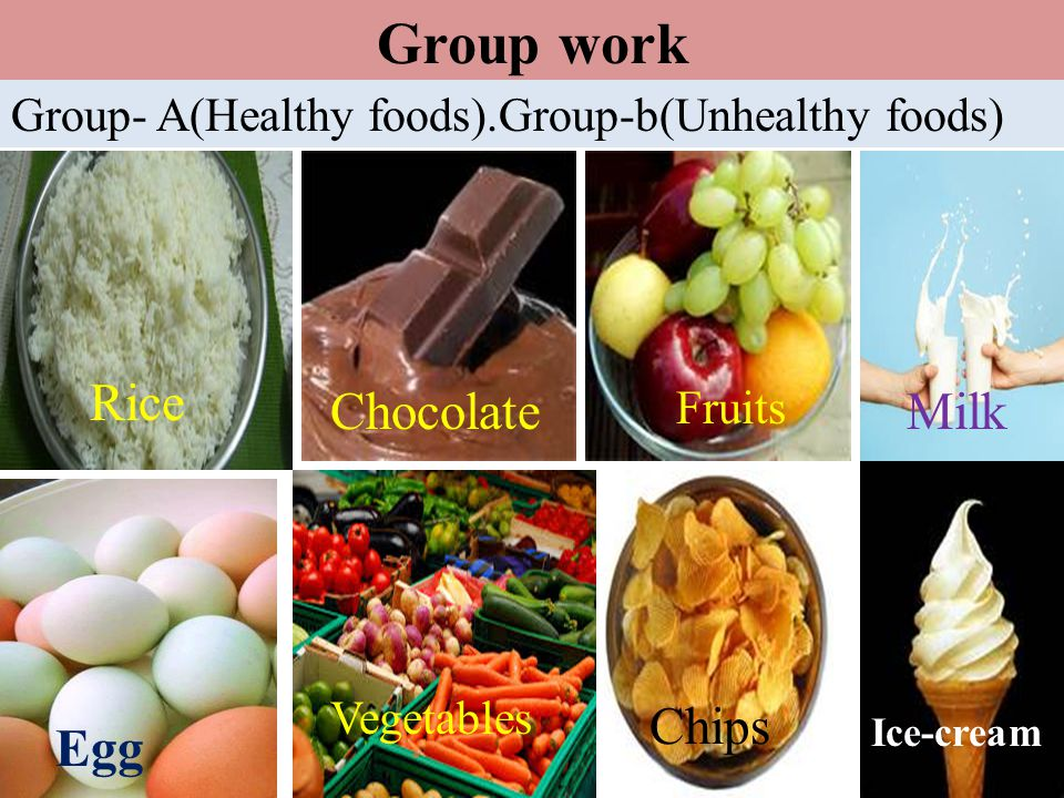 Group work Rice Chocolate Milk Chips Egg
