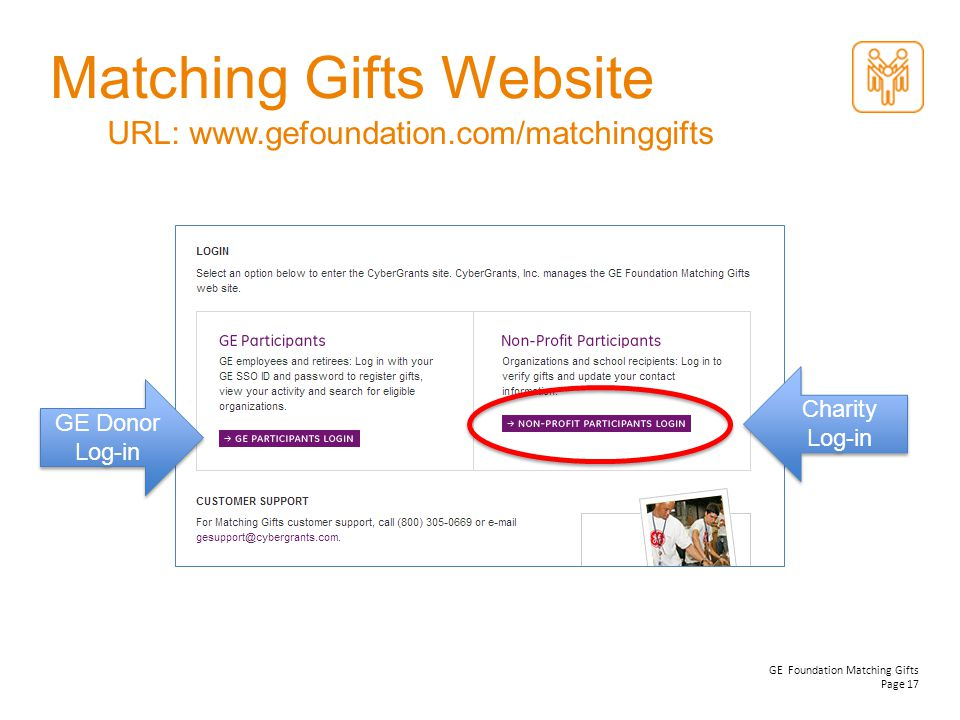 Matching Gifts Website