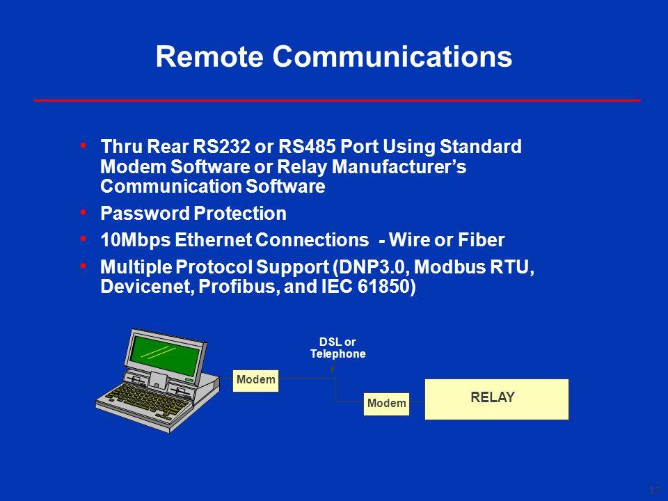 Remote Communications