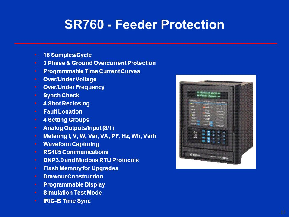 SR760 - Feeder Protection 16 Samples/Cycle