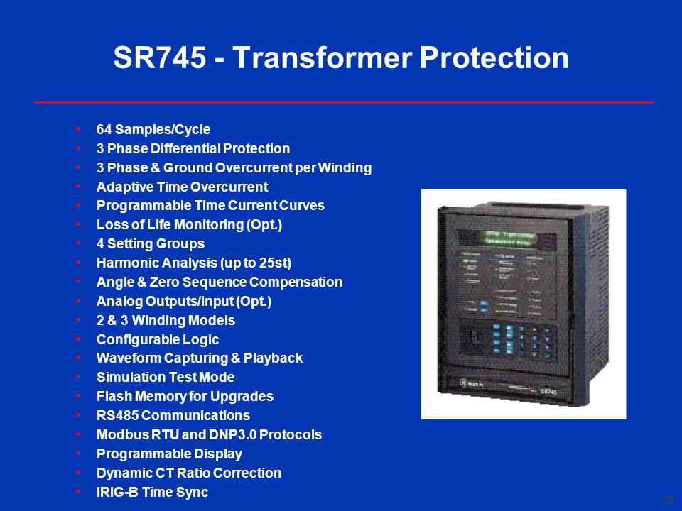 SR745 - Transformer Protection