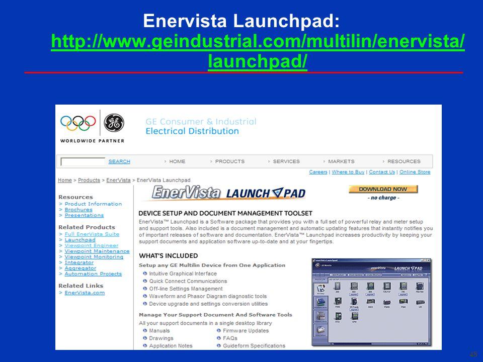 Enervista Launchpad: http://www. geindustrial