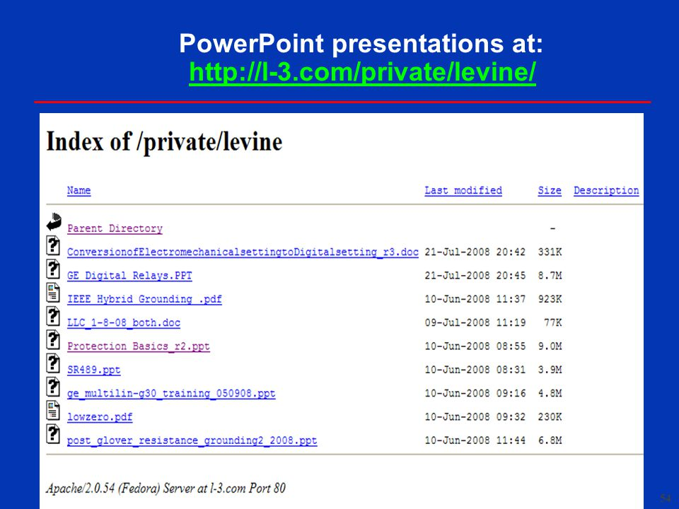 PowerPoint presentations at: http://l-3.com/private/levine/