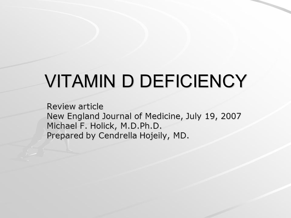 VITAMIN D DEFICIENCY Review article