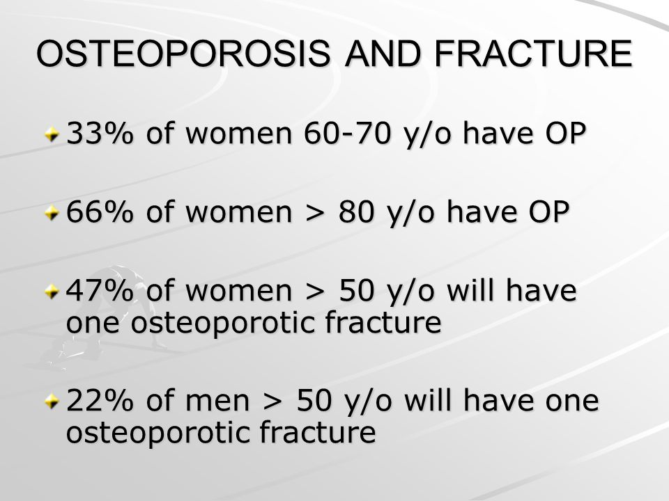 OSTEOPOROSIS AND FRACTURE