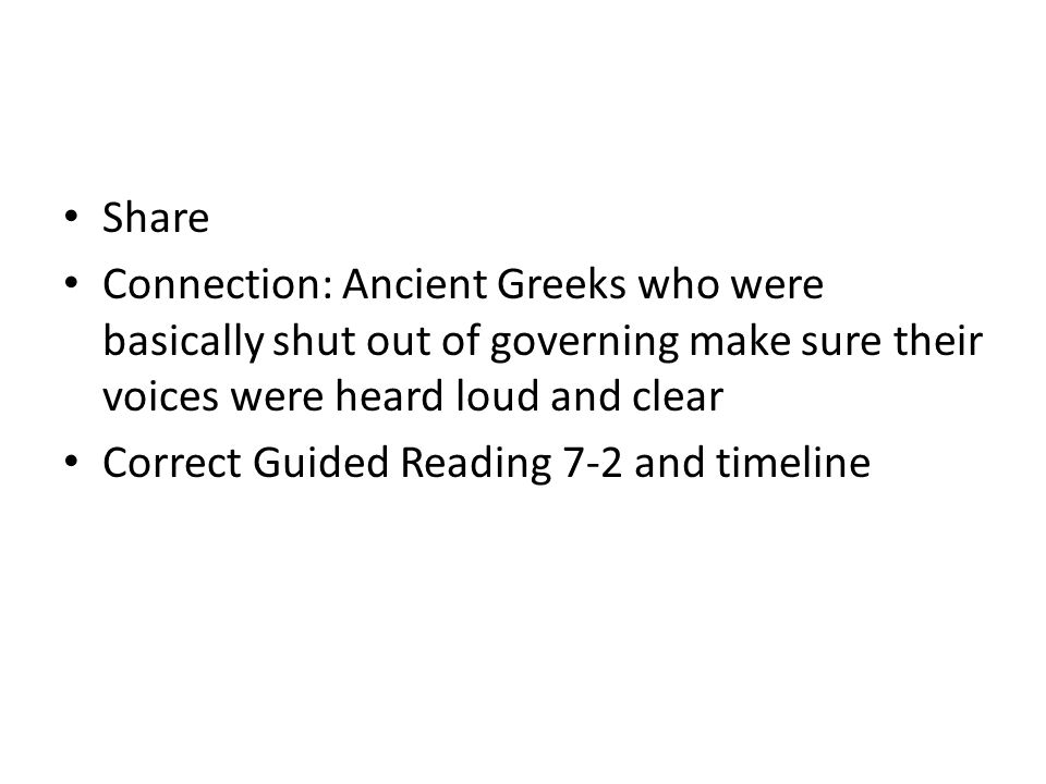 Share Connection: Ancient Greeks who were basically shut out of governing make sure their voices were heard loud and clear.
