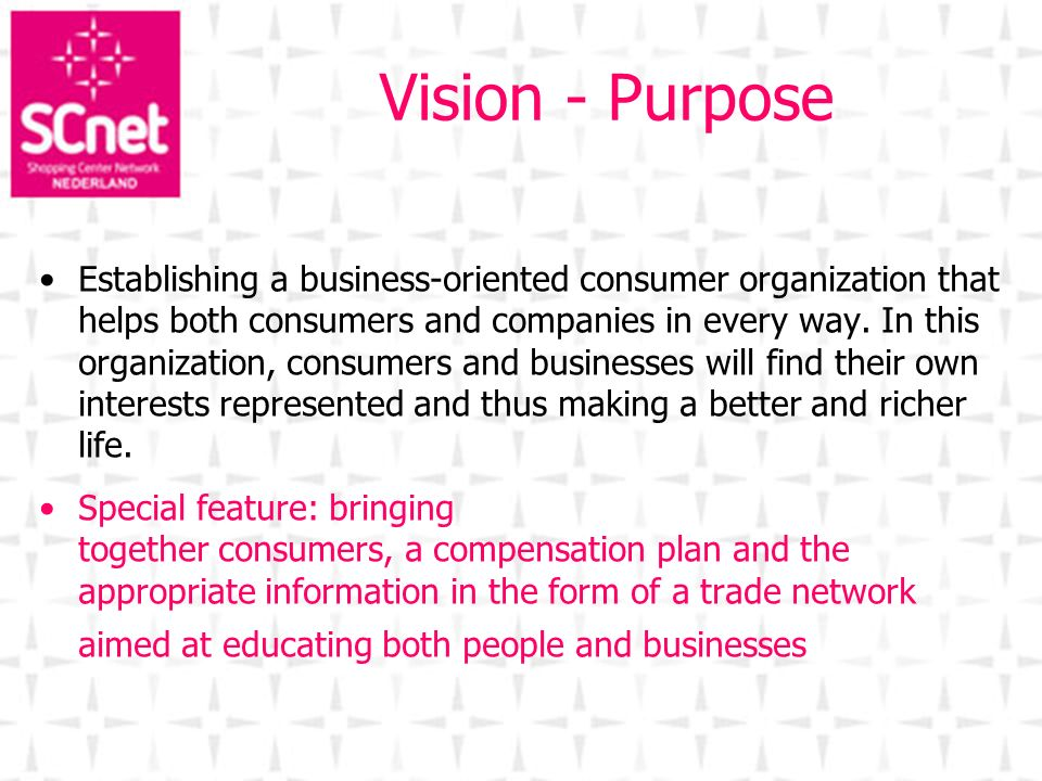 Vision - Purpose