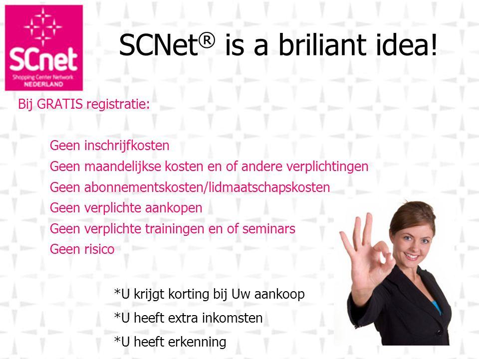 SCNet® is a briliant idea!