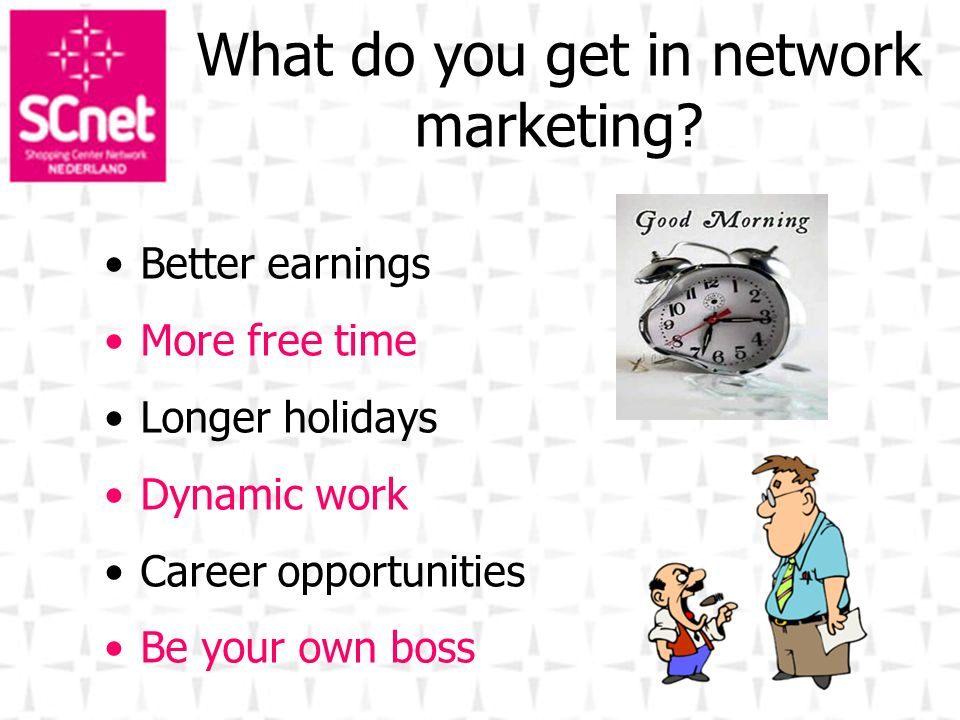 What do you get in network marketing