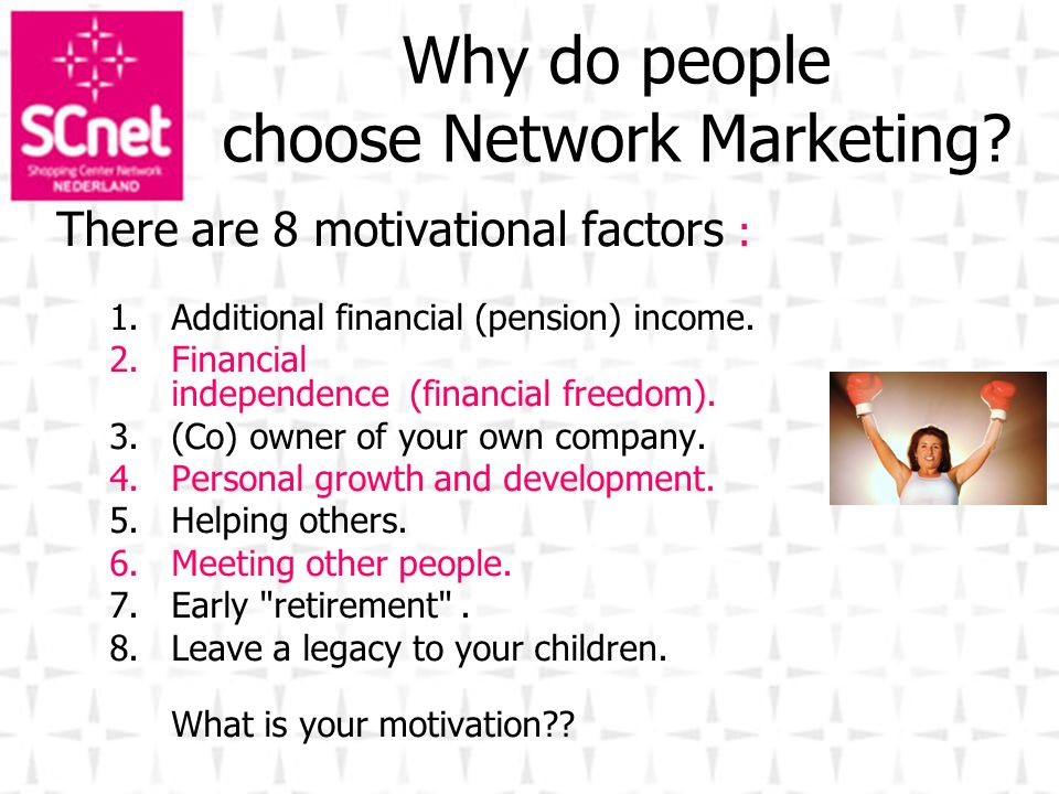 Why do people choose Network Marketing