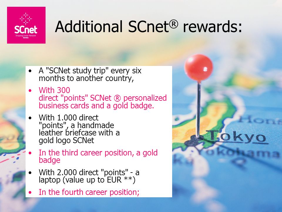 Additional SCnet® rewards: