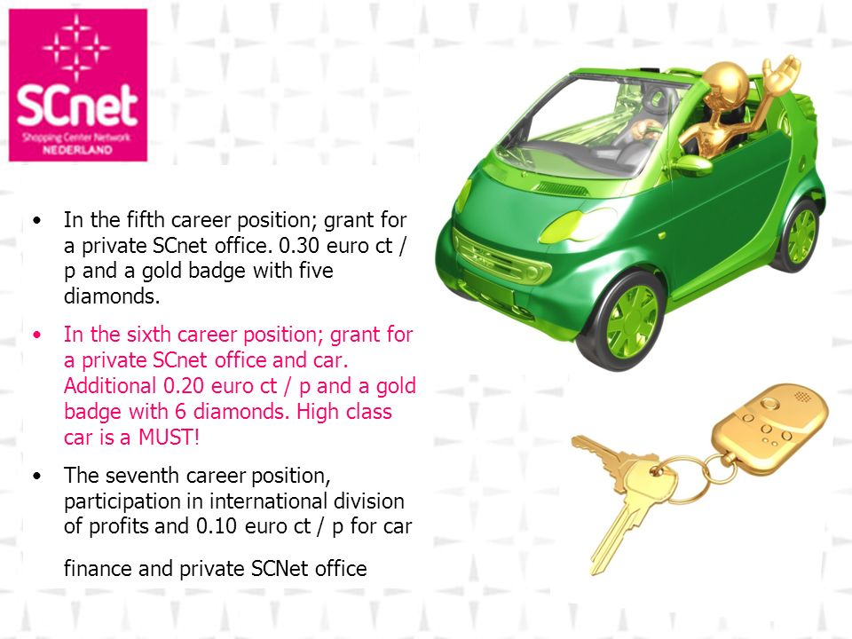 In the fifth career position; grant for a private SCnet office