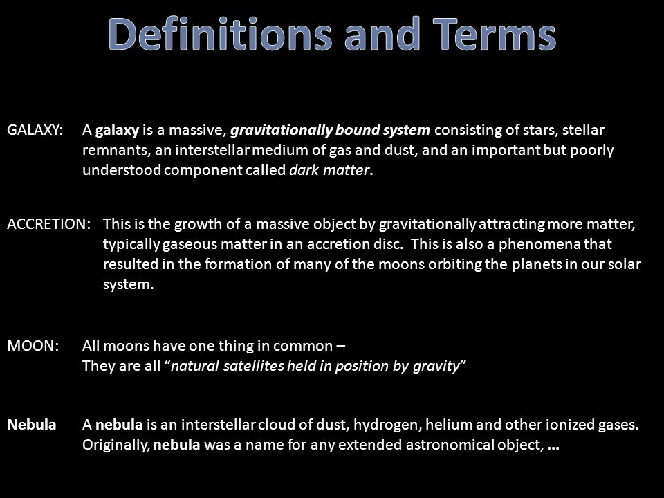 Definitions and Terms