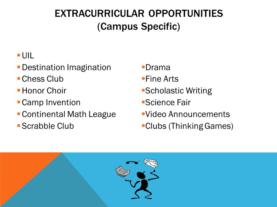 EXTRACURRICULAR OPPORTUNITIES (Campus Specific)