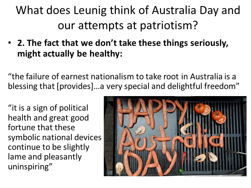 What does Leunig think of Australia Day and our attempts at patriotism