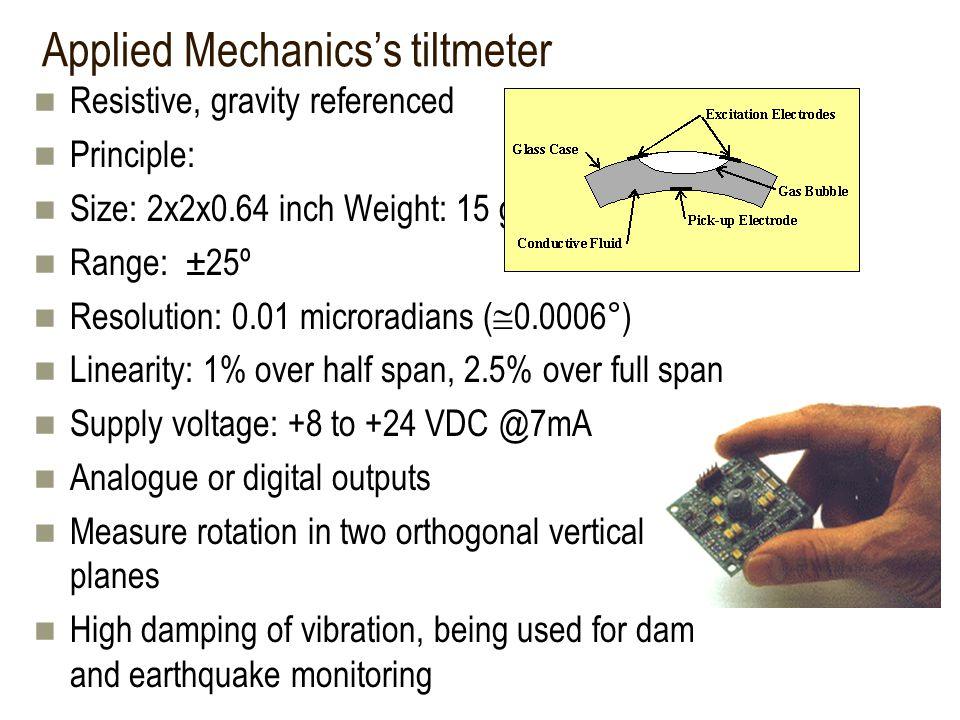 Applied Mechanics's tiltmeter