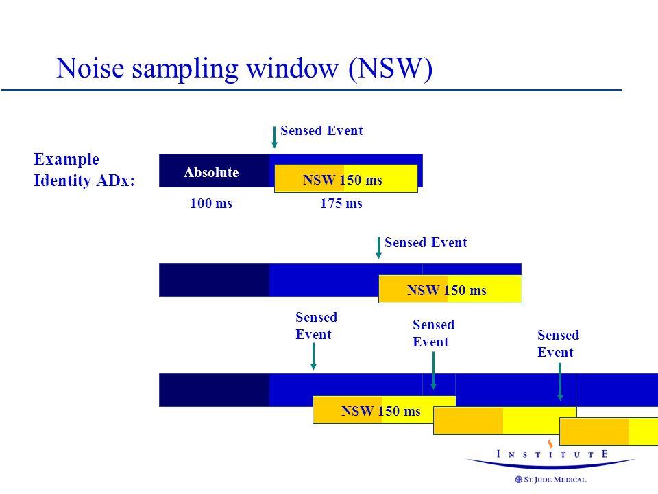 Noise sampling window (NSW)