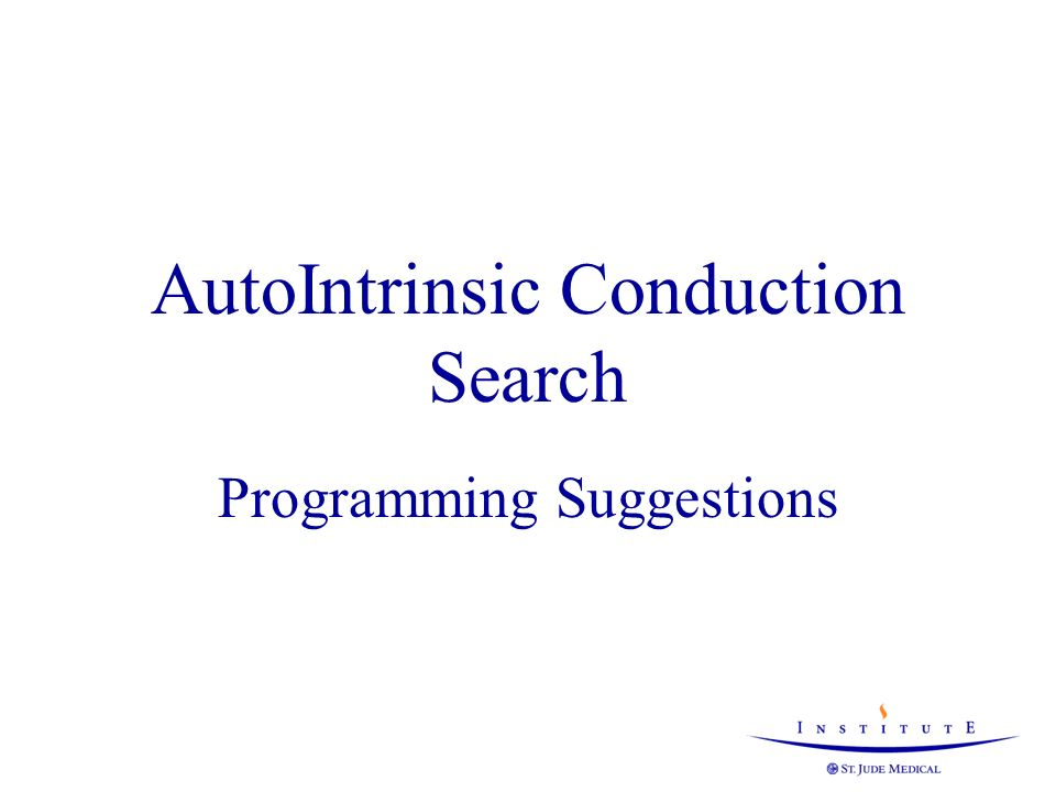 AutoIntrinsic Conduction Search