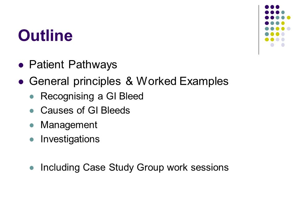 Outline Patient Pathways General principles & Worked Examples