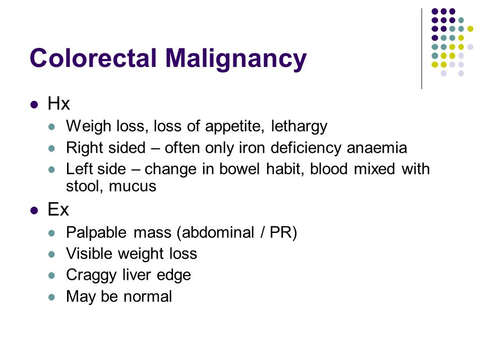 Colorectal Malignancy