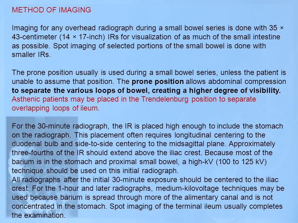METHOD OF IMAGING