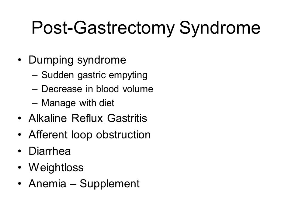 Post-Gastrectomy Syndrome