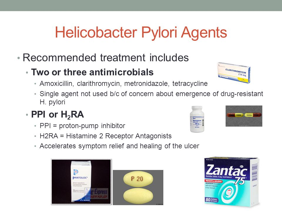 Helicobacter Pylori Agents