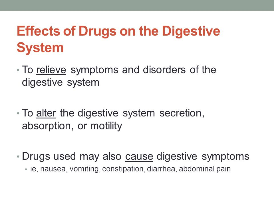 Effects of Drugs on the Digestive System