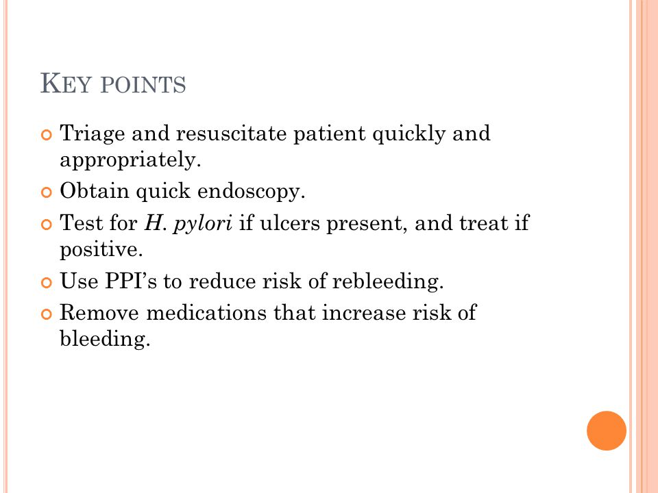 Key points Triage and resuscitate patient quickly and appropriately.