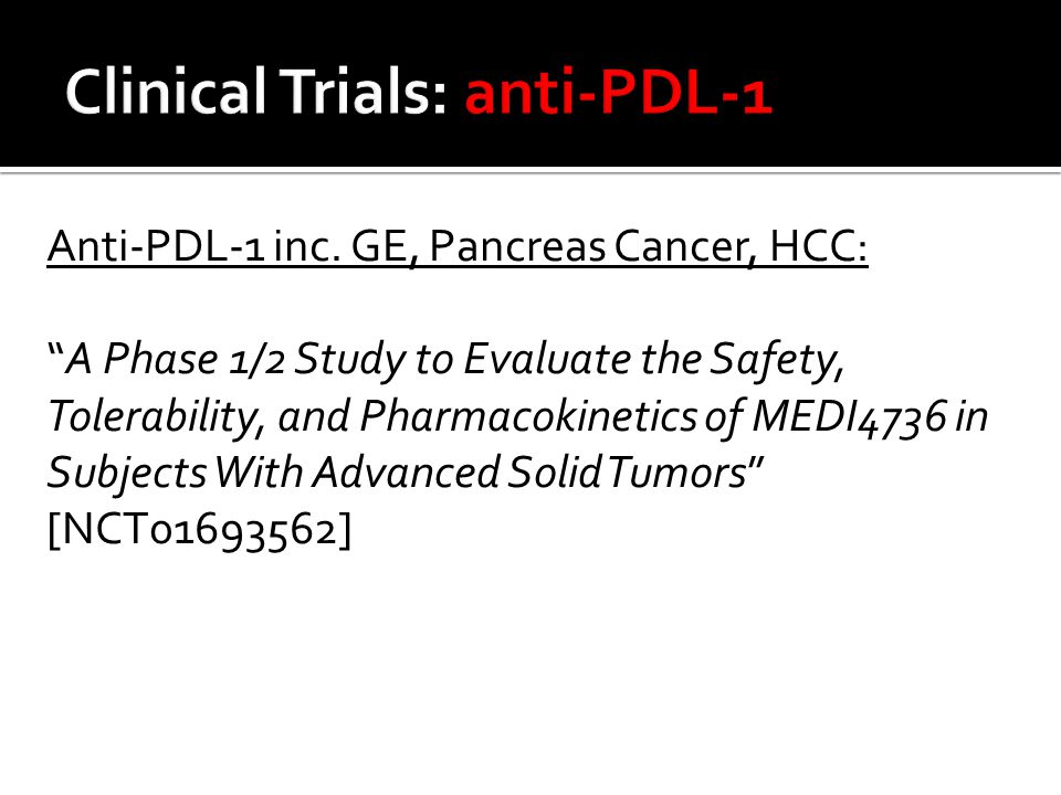 Clinical Trials: anti-PDL-1