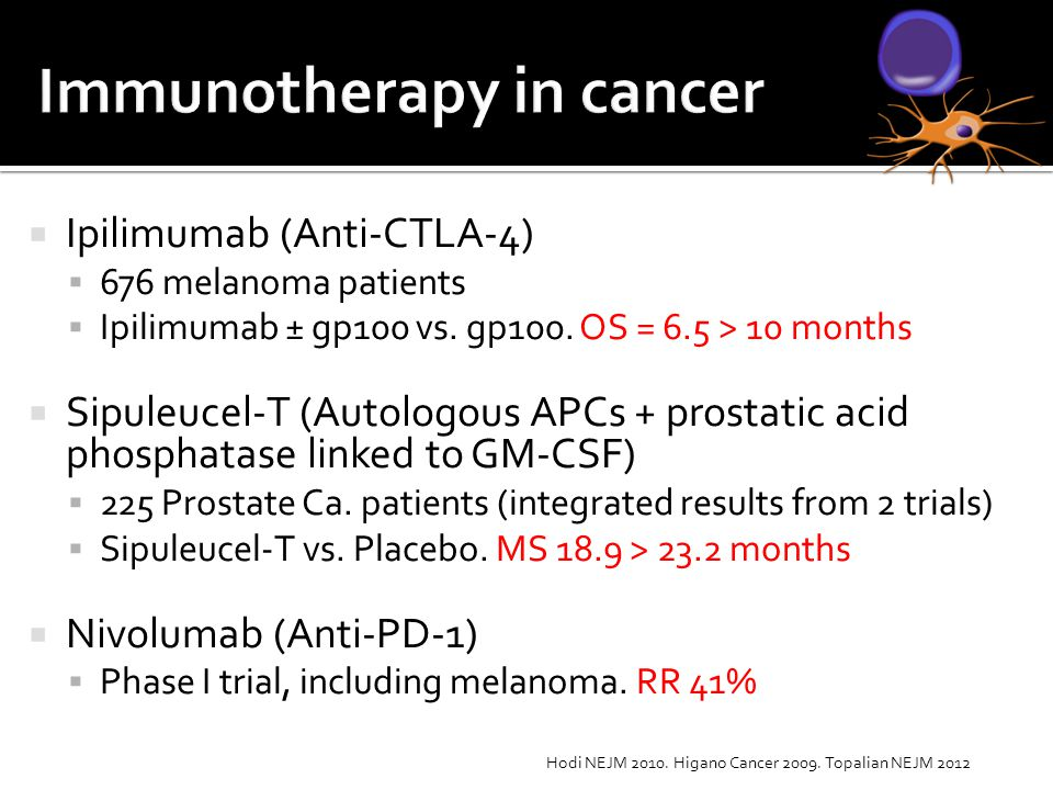 Immunotherapy in cancer