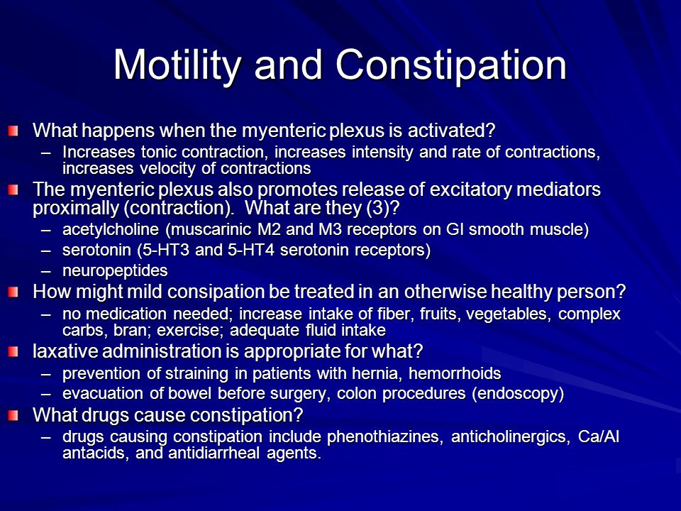 Motility and Constipation