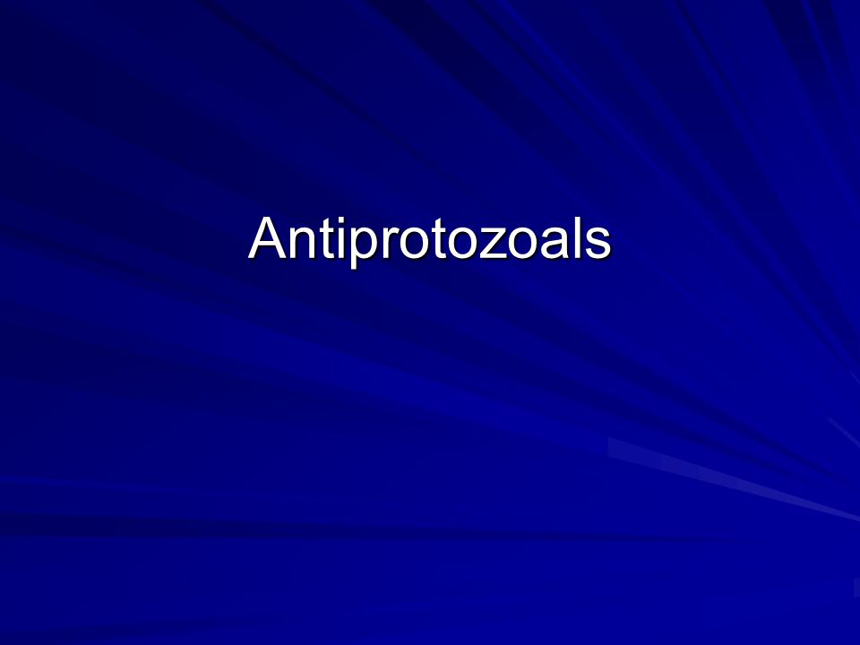 Antiprotozoals