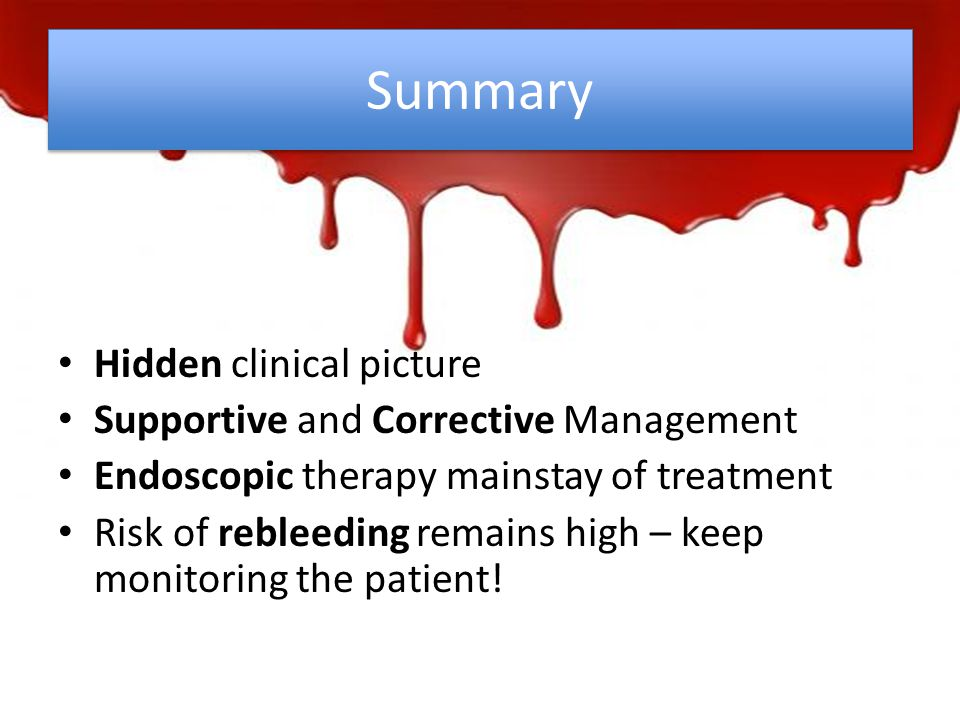 Summary Hidden clinical picture Supportive and Corrective Management