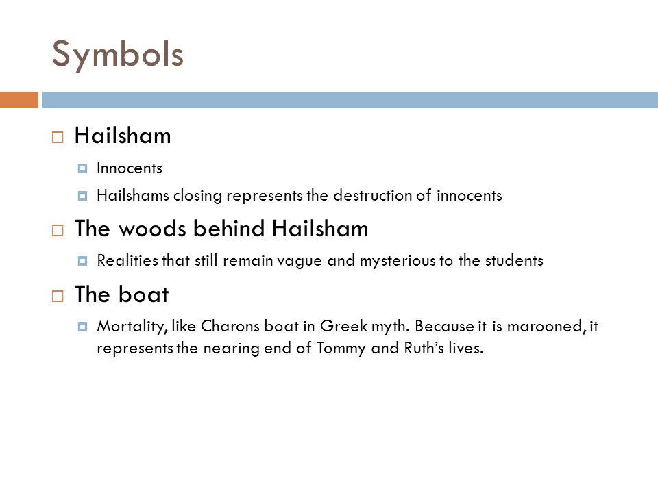 Symbols Hailsham The woods behind Hailsham The boat Innocents