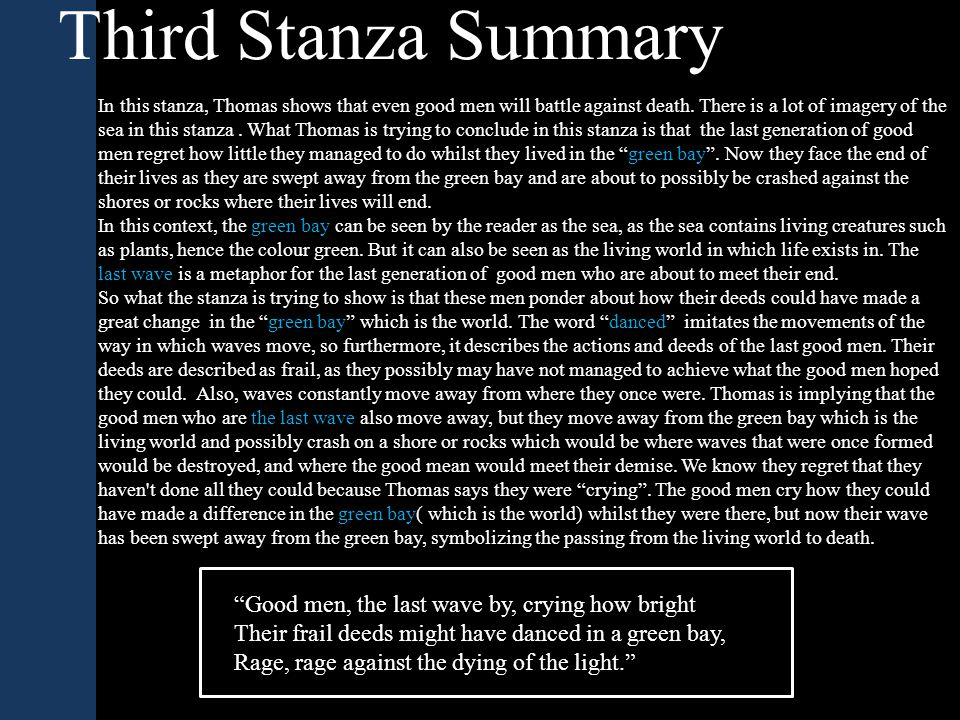 Third Stanza Summary