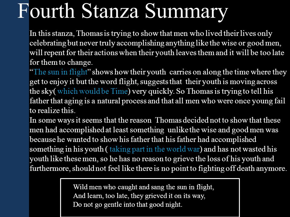 Fourth Stanza Summary