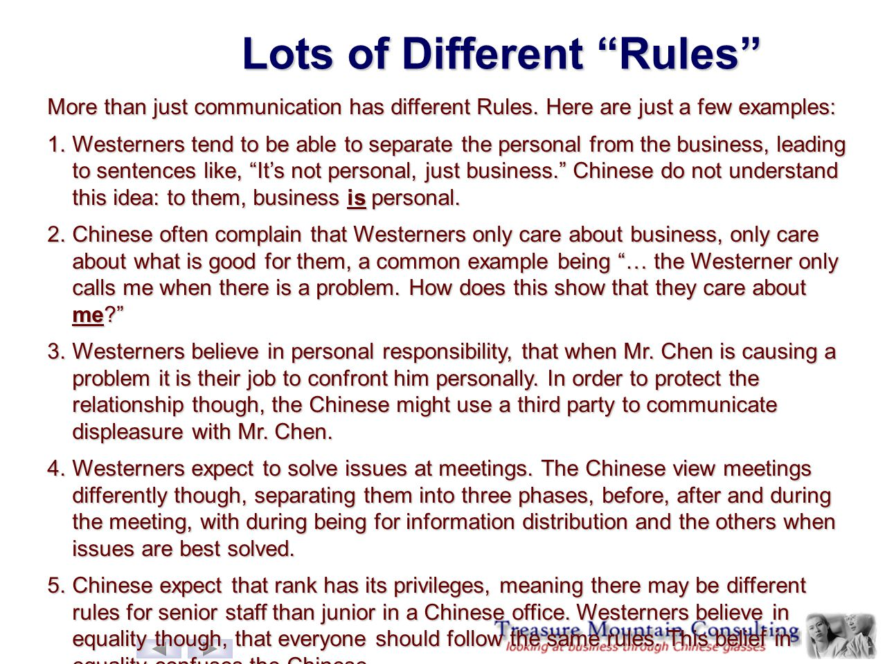 Lots of Different Rules