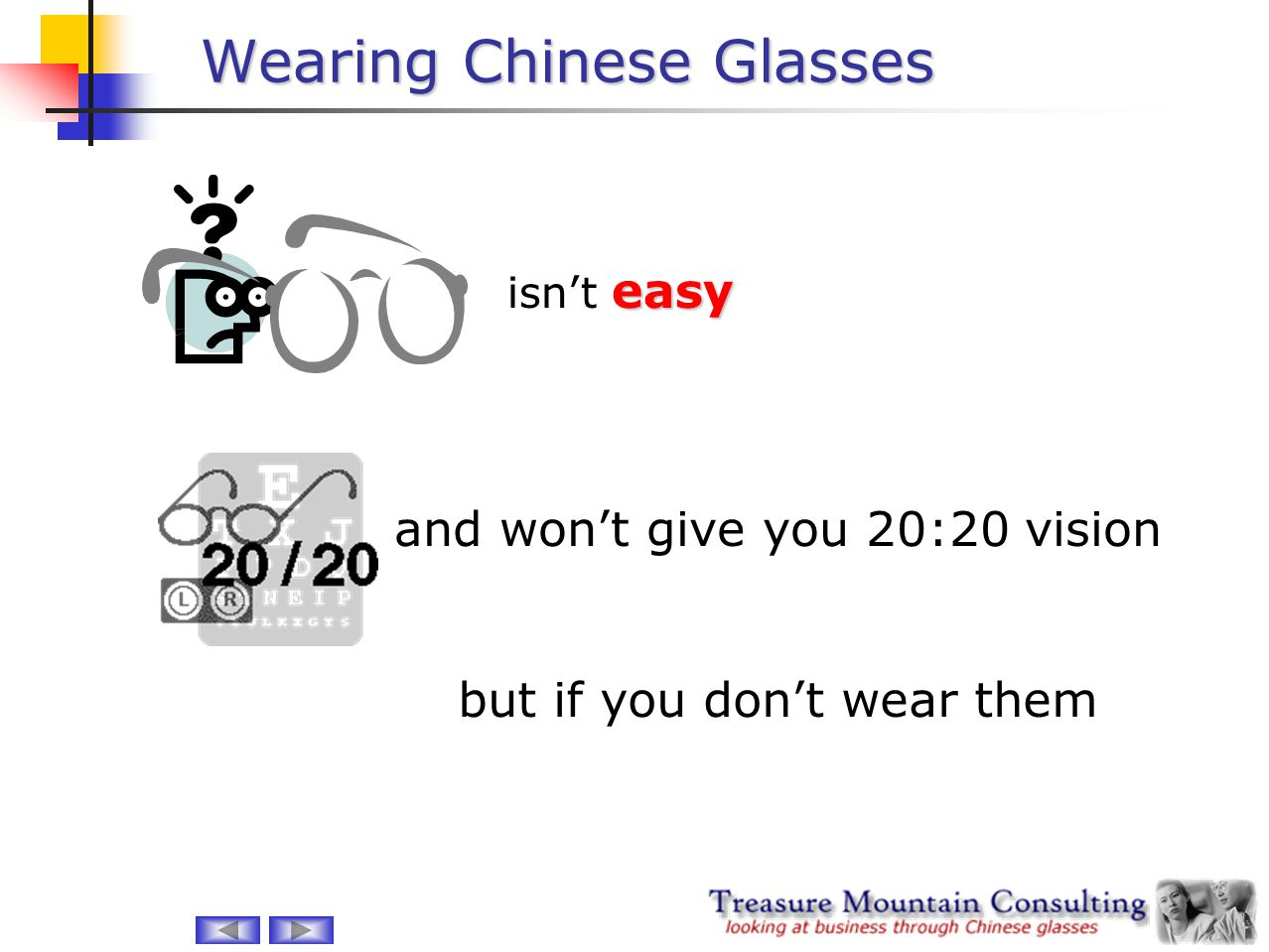 Wearing Chinese Glasses