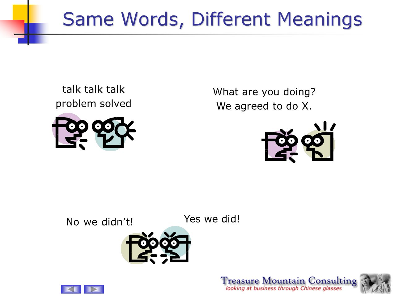 Same Words, Different Meanings