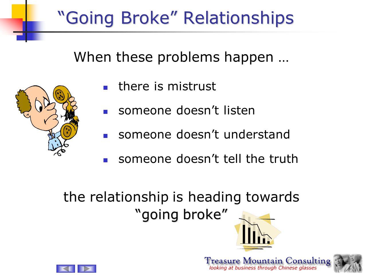 Going Broke Relationships