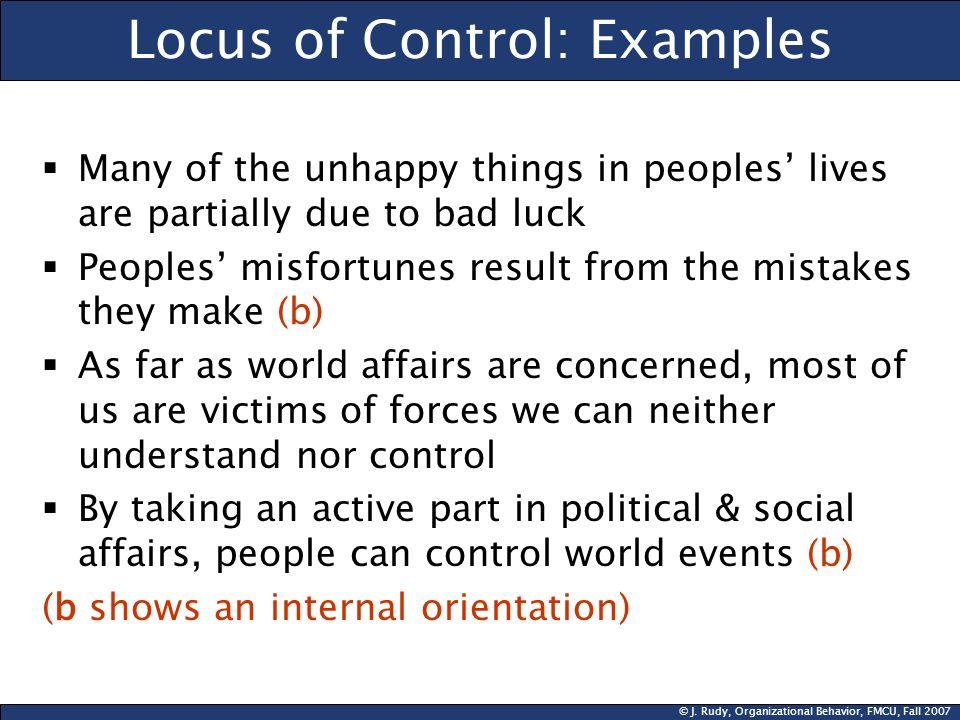Locus of Control: Examples