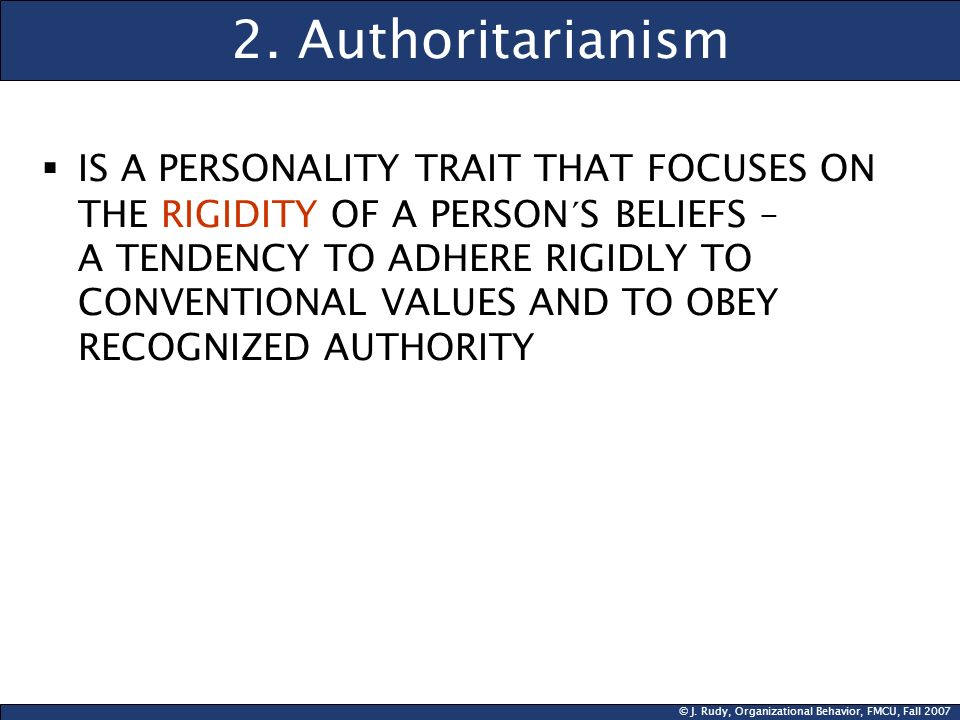 2. Authoritarianism