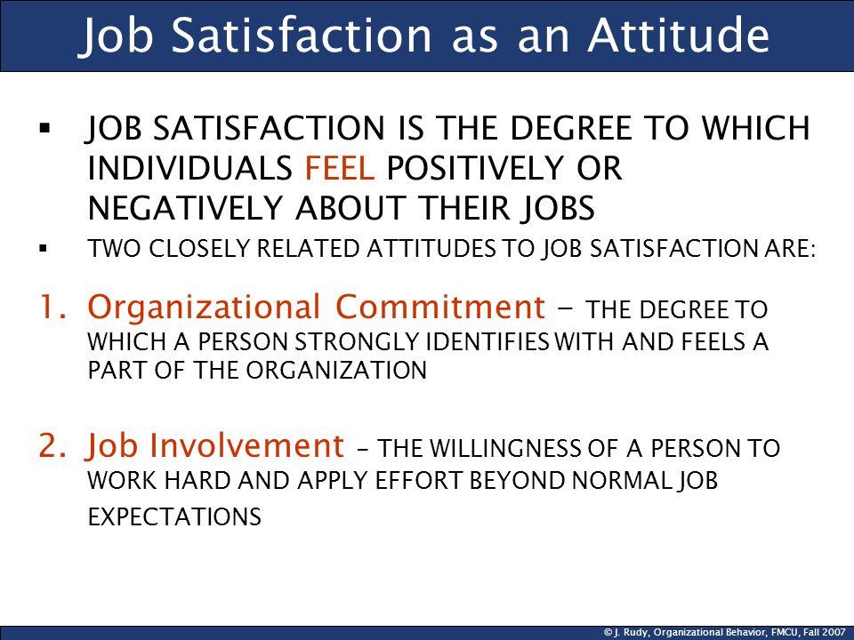 Job Satisfaction as an Attitude
