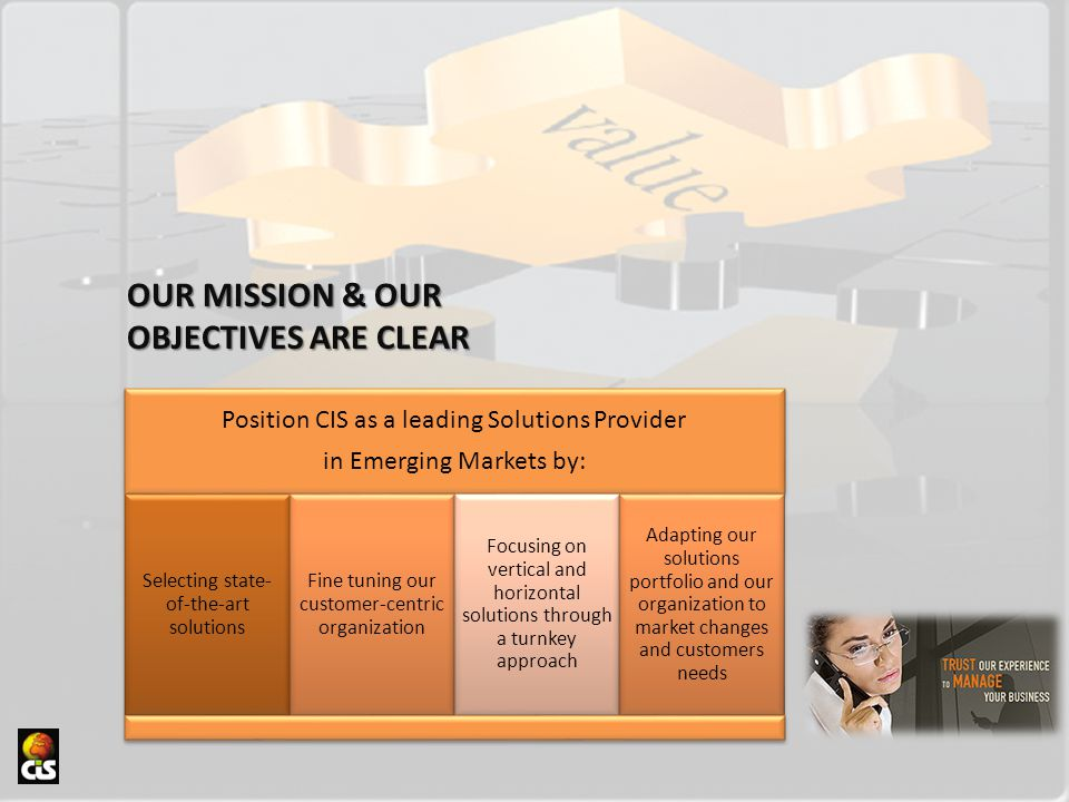 OUR MISSION & OUR OBJECTIVES ARE CLEAR