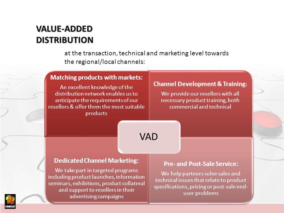 VAD VALUE-ADDED DISTRIBUTION