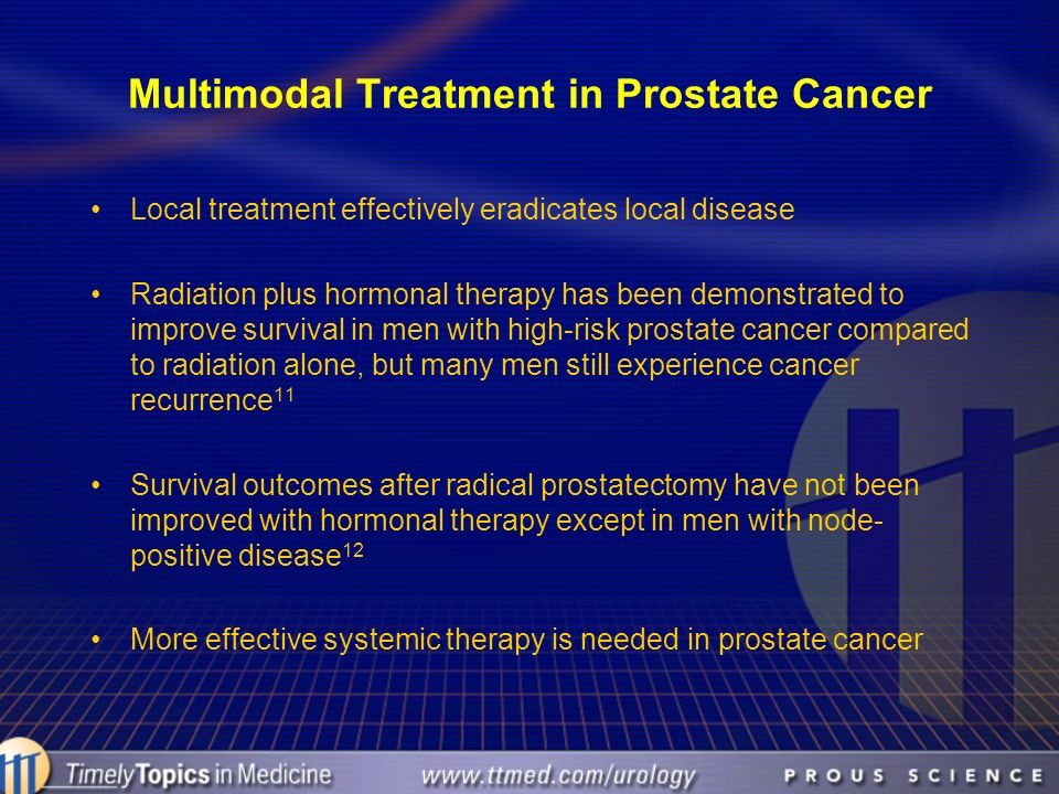 Multimodal Treatment in Prostate Cancer